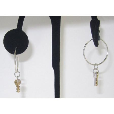 Sterling Silver Keys Earring Wholesale