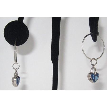 Sterling silver Two Sided Enameled Padlock Charm Earrings