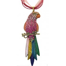 Pink Parrot necklaces all made with Swarovski Austrian crystal