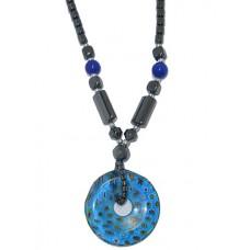 Semi Precious Stone Necklace in Hematite