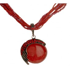 Red beautiful bead necklace