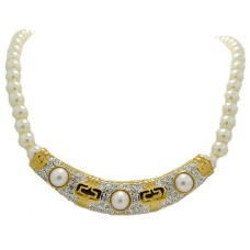 Pave Pearl Pendant Necklace