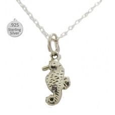 Sterling Silver Sea Horse Pendant & Chain