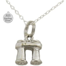 925 Sterling Silver Binoculars Pendant And Chain
