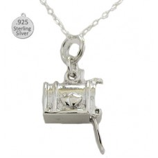 Sterling Silver Mail Box Pendant And Chain