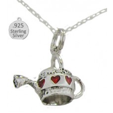 Sterling Silver Watering Can Pendant And Chain