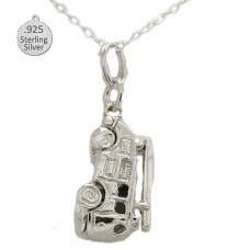 925 Sterling Silver Fire Engine Pendant & Chain