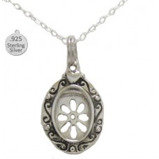 Sterling Silver Picture Frame Pendant And Chain