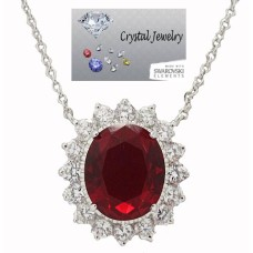 Princess Kate And Princess Di Wholesale Necklace with chain Ruby