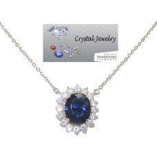Princess Kate And Princess Di Necklace with chain Sapphire