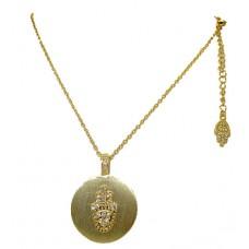 Two Tone Austrian Crystal Jewish Designer Necklace