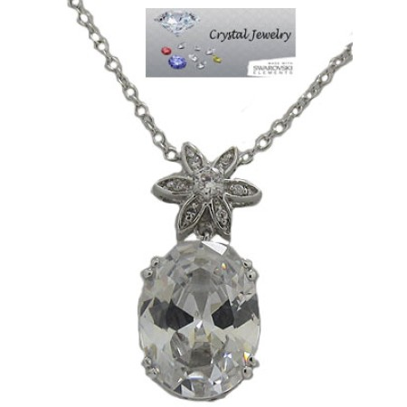 A wholesale Cz Oval Pendant All clear