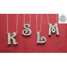 M LETTER M on chain wholesale necklace