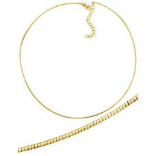 Omega Necklace Yellow Gold Wholesale Chain