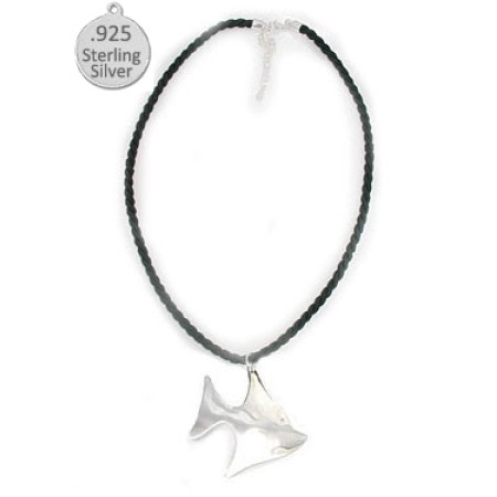 925 Sterling Silver Fish Pendant wholesale