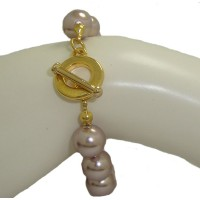 10mm Bronze Pearl Bracelet Toggle Bolt