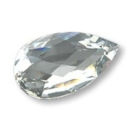 20 Wholesale 6mm x 4mm Clear Crystal Tear Drop foil back