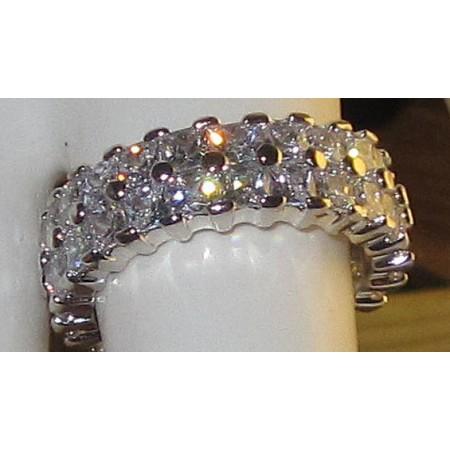 Celebrity Eternity Ring in white gold