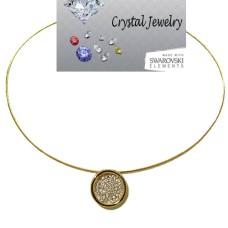 Designer Pave Circle Pendant