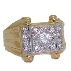 Yellow Men's High Quality Cubic Zirconia Wholesale Rings