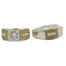 Men's Two Tone White & Yellow Gold Wholesale Ring