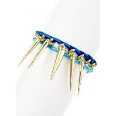 Blue Spike Bracelet