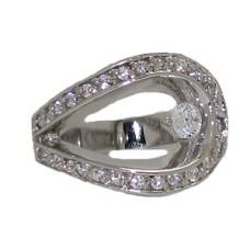 Designer Swirl White Gold Ring