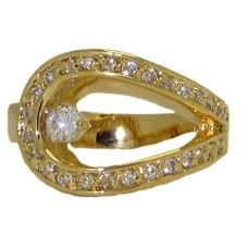Designer Swirl 18 Karat Ring