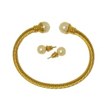 Bracelet & Earring Sets Elegant Bracelet Pearls