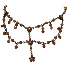 Topaz Stone QVC Adustable Necklace