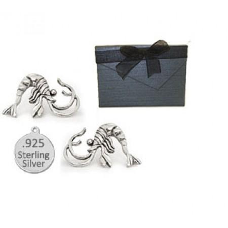 925 Sterling Silver Shrimp Earrings