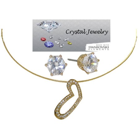 Designer Austrian Crystal 2 Pcs Necklace Set