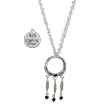 Silver Genuine Black Onyx Gemstone Wholesale Necklace