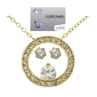 CZ Designer Eternity Wholesale Necklace Earring Set