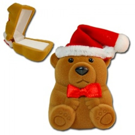 Teddy Bear Ring Earring Box