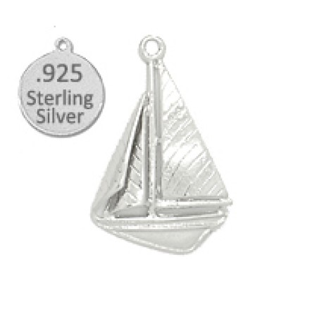 925 Sterling Silver sailboat charm