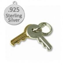 Sterling Silver Keys Wholesale Charm
