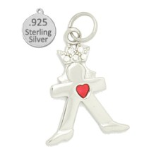 Sterling Silver Queen for a day charm