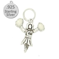.925 Sterling Silver Cheerleader wholesale charm