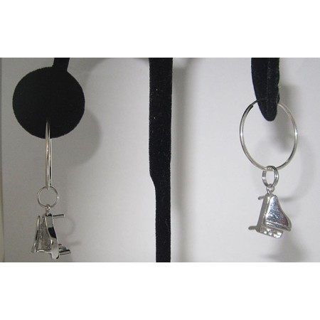 925 Sterling Silver Grand Piano Earring