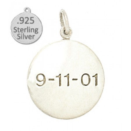 925 Sterling Silver 9 11 disc wholesale charm