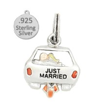 925 Sterling silver just married charm