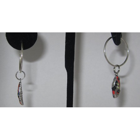 Sterling Silver Racing Car charm Earring