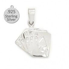 Sterling silver Royal flush Deck wholesale charm