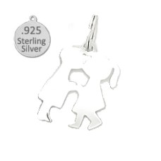 Charm 925 Wholesale Sterling silver boy & girl kissing charm