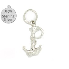925 Sterling silver anchor & rope wholessale charm