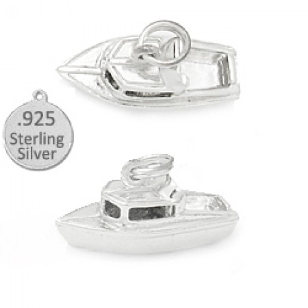 925 Sterling silver boat cruiser wholesale charm