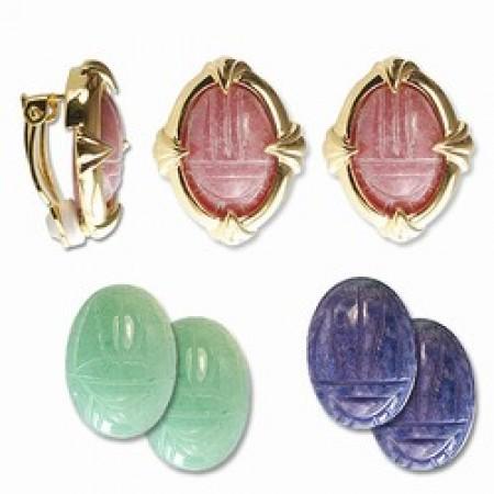 Genuine Scarab Earrings