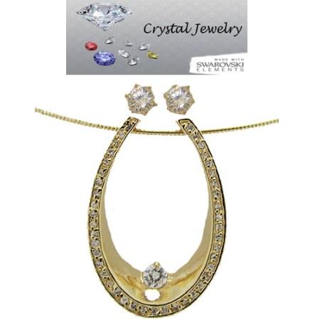 CZ Designer Wholesale Necklace Earring Set 2 pcs