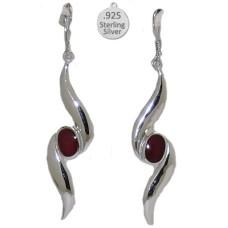 Garnet Gemstone, Native American Wholesale Earring
